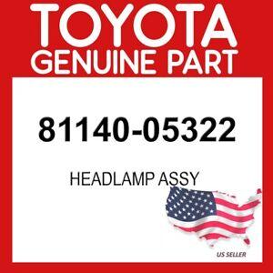 TOYOTA GENUINE OEM 81140-05322 HEADLAMP ASSY 8114005322