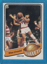 1979-80 WES UNSELD WASHINGTON BULLETS HALL OF FAME TOPPS BASKETBALL CARD HOF