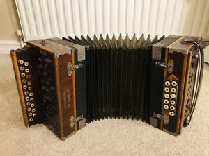Hohner 2 Row Vienna  D/G Melodeon Diatonic Button Accordion / VINTAGE Early 1900