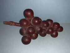 Early Vintage Antique Italian Alabaster Stone Fruit Deep Red Grapes NM