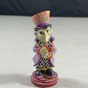 2002 Alice In Wonderland Chess Set Adams Apple Replacement Red Mad Hatter