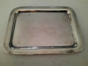 Vintage Silver plate Tennis Trophy Tray, B.F.C.C.1966 Women's Doubles Second