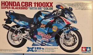 "Tamiya 1/12 Honda CBR1100XX Super Blackbird ""With Me"" Color Model Kit"