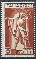 1930 REGNO POSTA AEREA FERRUCCI 1 LIRA MNH ** - ED1061-2