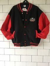 URBAN VINTAGE RETRO UNISEX USA BLACK & RED VARSITY JACKET BOMBER POPPER COAT XL