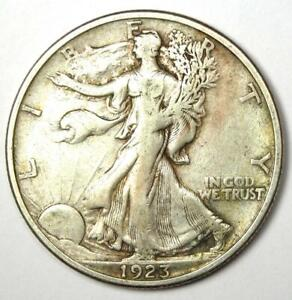 1923-S Walking Liberty Half Dollar 50C - Choice VF - Rare Date Coin!