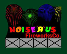 NOISE-R-US FIREWORKS ANIMATED SIGN O/HO-SCALES BY MILLER ENGRG -FLASHES-PLUS