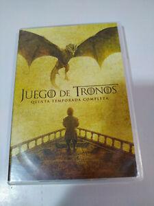 Juego de Tronos Quinta Temporada 5 Completa - 5 x DVD Español English