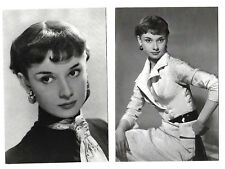 """AUDREY HEPBURN"" - TWO QUALITY POSTCARDS - NEW & UNUSED"