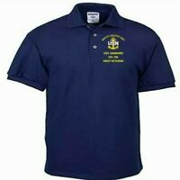 USS GAINARD  DD-706  NAVY ANCHOR EMBROIDERED LIGHT WEIGHT POLO SHIRT