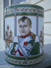 """CAMUS """"Napoleon's Portrait"""" Drum LIMOGES Porcelain EMPTY Rare Cognac Bottle !!!"""