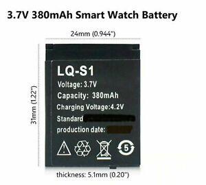 LQ-S1 Smart Watch Battery 3.7v 380MAH RECHARGEABLE LI-ION POLYMER DZ09 lqs1