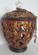 "Large Decorative Box ""Running Vine"" with Charm"