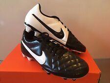 Nike Outdoor Soccer Cleats Tiempo Rio II Black/White Mens Size 9