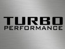 Turbo Diesel Benzina Prestazioni Auto Furgone Camper Vinile Decalcomanie Adesivi Sport Corsa