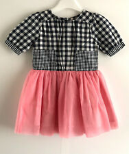 JAM on TOAST GINGHAM CONTRAST DRESS - Size UK2-3YEARS