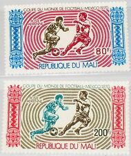 Mali 1970 238-39 c101-02 Soccer World Cup Mexico City Fútbol WM Football mnh