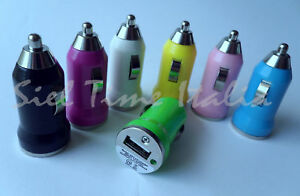 MINI CARICABATTERIA DA AUTO USB IPHONE 3 3G 3GS 4 IPOD