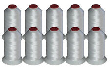 THREADELIGHT 10 CONES POLYESTER  MACHINE EMBROIDERY THREAD WHITE 40WT 1100yds