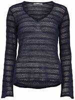 4/13 NEU ONLY Damen Fein Strick Pullover onlPEONY L/S PULLOVER KNT  Gr. M blau