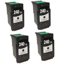 4 PK NON-OEM INK FOR CANON PG-240XL BLACK PIXMA MX532 MG3220 MX372 MX459 MX479