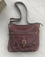 FOSSIL - Sasha Large Dark Brown Leather Crossbody Shoulder Bag Handbagt