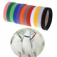 12Pcs Whelping Puppy Pet Dog ID Identification Bands Litter Kitten Cat Collar US