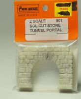 """901 Z-scale  Tunnel Portal """"CUT STONE"""" Stonewall, Single Track, Made in USA"""