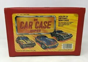 VTG Tara Toys 24 Car Case Super Holds Diecast Mini Cars Hot Wheels Matchbox CB21