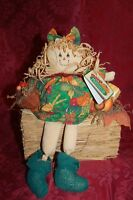 Primitive Halloween Scarecrow Doll~Fall~Harvest~TableTop~Decoration
