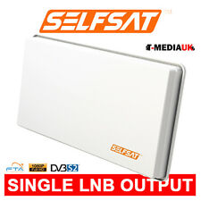 Selfsat Flat Panel Satellite Dish Single LNB Slim, Descreet Freesat + Universal