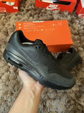 "Nike Air Max 1 G UK 9.5 ""Black/Metallic Silver"" EU 44.5 Golf Shoes"