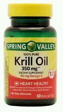 Spring Valley Krill Oil Omega-3 Heart Health 350 mg 60 Softgels Each