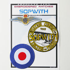"""SOPWITH (CAMEL) AVIATION"" RAF Iron-On Patch Super Set #137 - FREE POSTAGE!"