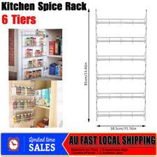 6 Tier Multilayer Spice Organizer Rack for Wall Kitchen Door Cupboard Storage