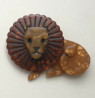 Unique Lion  Brooch  Pin In acrylic