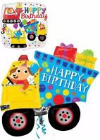 Construction Builder Digger Balloons Party Ware Decoration Novelty Gift Helium