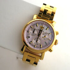 Versace Women's VLB100014 Day Glam Chronograph MOP Dial Stainless Link Watch
