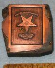 1902 OLIVET MI Order Eastern Star WORTHY MATRON Copper Printing Block PB199