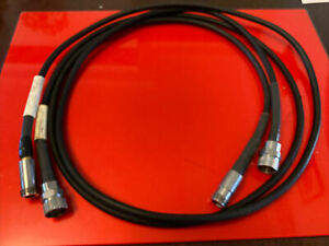 2x 15NNF50-1.5A & 1.5C Anritsu Armoured Test Port Extension Cables 1.5 Metres