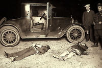 Antique CRIME SCENE Mafia Killing 1920s Chicago Vintage Photo 4x6 Sepia Reprint