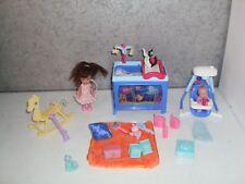 lot poupée barbie CHAMBRE OCEAN pour Shelly et bébé Krissy accessoires