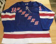 New York Rangers Mark Messier #11 Sewn Hockey Starter Jersey NHL Mens Size 56
