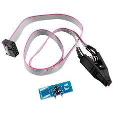 SOIC8 SOP8 Flash Chip IC Test Clips Socket Adpter BIOS/24/25/93 Programmer ZQ