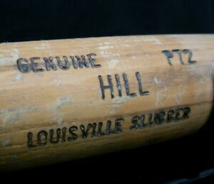 Clay Hill Game Issue Game Used Louisville Slugger Cracked Bat Mariners BBB 052