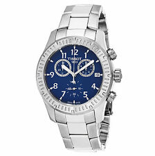 Tissot Men's V8 Blue Dial Stainless Steel Chronograph Swiss Watch T0394171104703