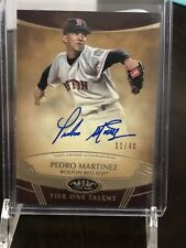 2019 Toops Tier One Talent Pedro Martinez Auto Red Sox 11/40 🔥