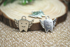15pcs- Tooth fairy charms silver Tooth fairy charms pendants 20x18mm