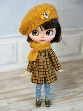 ❤ Blythe-Outfit ❤3 teilg: Mantel, Baske, Schal; Coat, Beret,Scarf Pure Neemo S