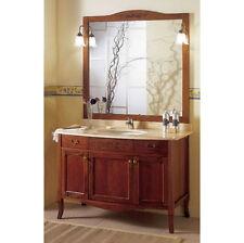 Mobile bagno arte povera massello 116 lavabo sottopiano specchiera applique|in
